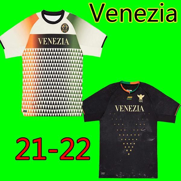 21 22 Venezia FC Soccer Jersey Home Away Aramu Forte Fiordilino Peretz Heymans Tessmann Crnigoi 2021 2022 Mariano Johnsen Mazzocchi كرة القدم قمصان الرجال عدة موحدة