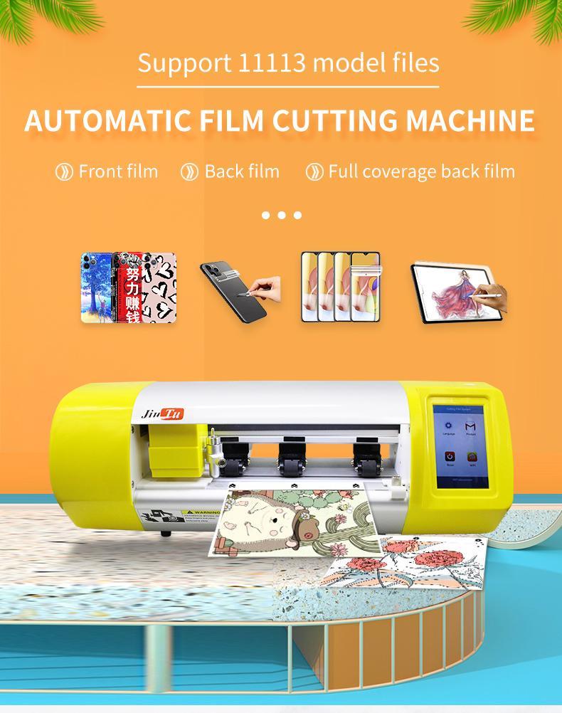 Koruyucu Film Kesme Makinesi Bilgisayarda Dahili Jiutu Otomatik Hidrojel Film Kesici iPad Cep Telefonu Koruyucu için