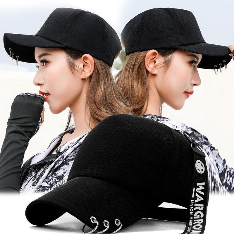 Capuchon polyvalent de chapeau de fille au printemps et à la queue longue de la queue de baseball bouchon cerceau coréen chapeau chapeau chapeau de mode
