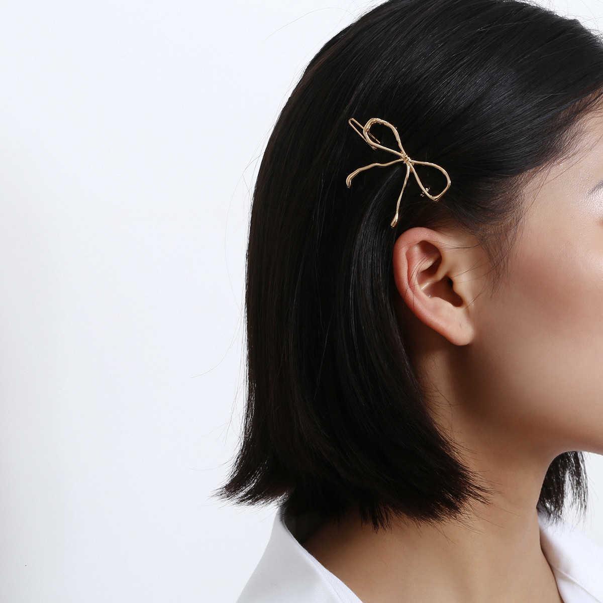 Takı moda kelebek phnom penh headdress ile kombine Korece kadın metal firkete banger
