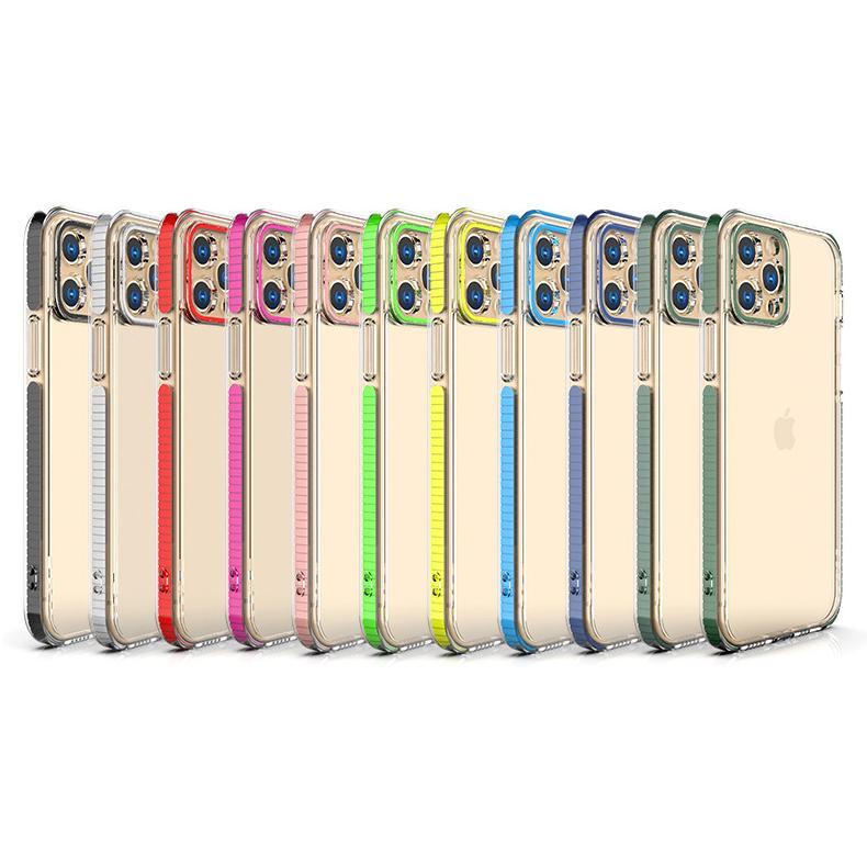 Capas de telefone de choque à prova de choque acrílico de cor dupla para iphone 12 11 pro máximo mini XR X 8 7 6 mais proteção de proteção de câmera capa de celular