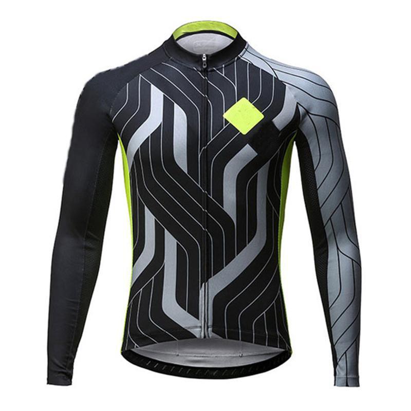سباق جاكيتات ركوب الدراجات الأزياء الاتجاه الطريق الجبلية الدراجة قمم قميص تنفس فريق طويل الأكمام