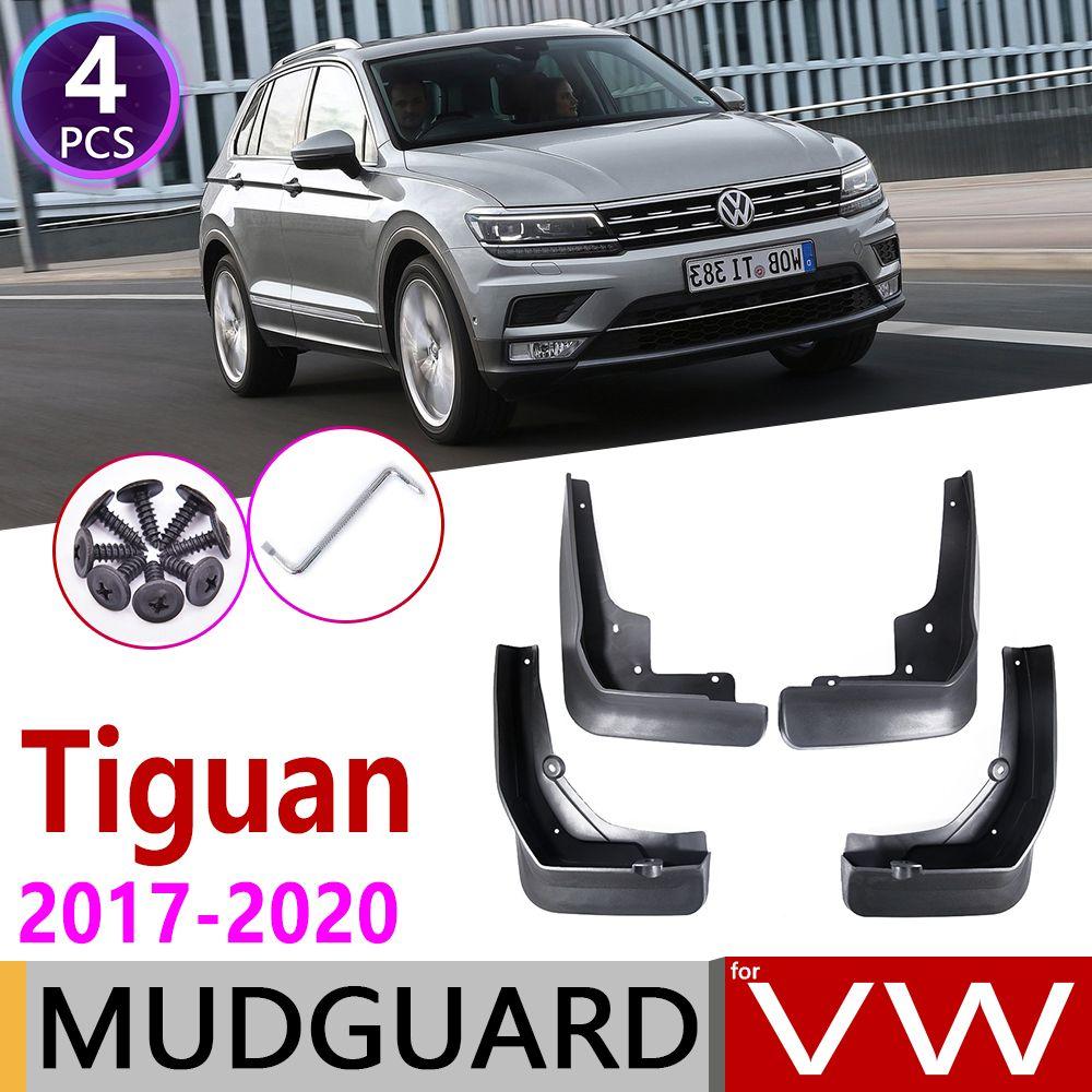 4 stücke auto mud flocken für volkswagen vw tiguan 5n 2017 2018 2019 2020 mk2 fender schlammschutzklappen splash flap mordguards zubehör