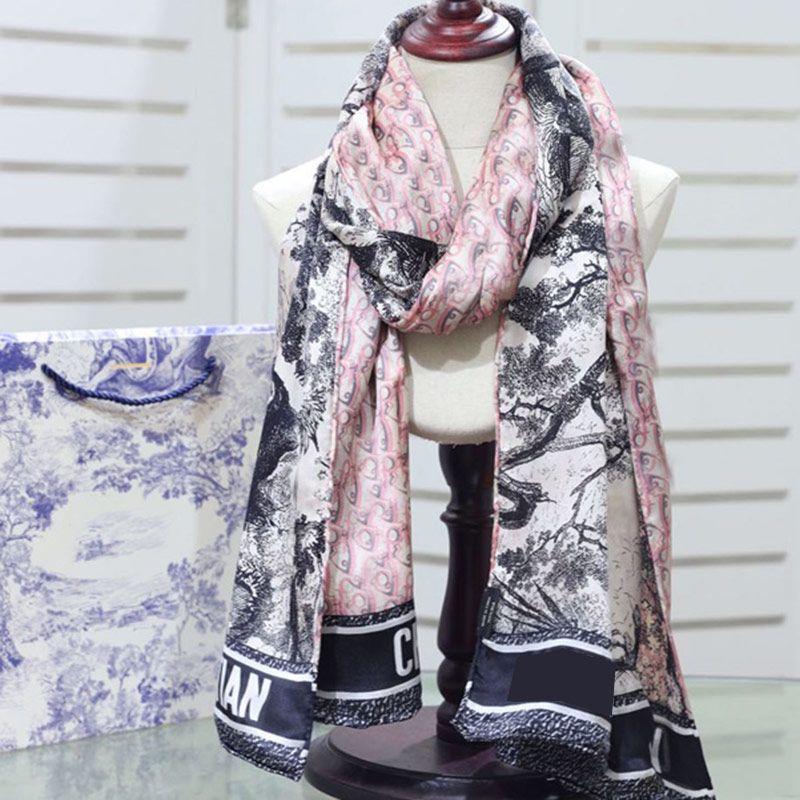 Alta Quatity Primavera e Summer Twill Twill Sciarpa lunga per le donne Fashion Sunscreen Doppio Sciarpe Designer Designer Sciarpe di lusso Scialle di lusso a plaid Scialle hijab