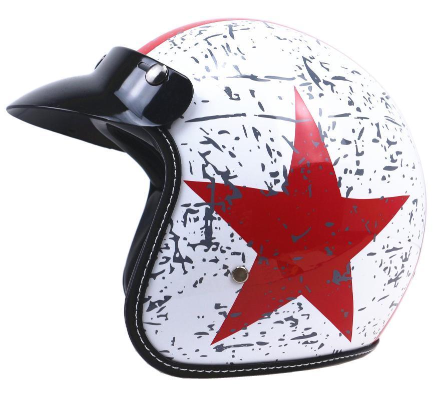 Cascos de motocicleta Vintage Sun Visor Motorbike Casque Moto Scooter Protección para hombres Mujeres Classic ABS Material Abra la cara 3/4