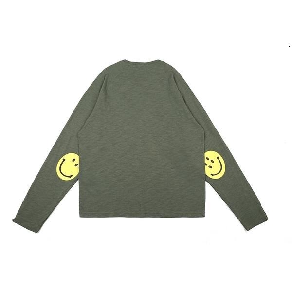 100% Otoño 0924 Camiseta Color Sólido Manga Casual T Hombres Largos Kapital Pareja Spring Cotton Fit Shirt Flow 2020 Tee Women KS0310
