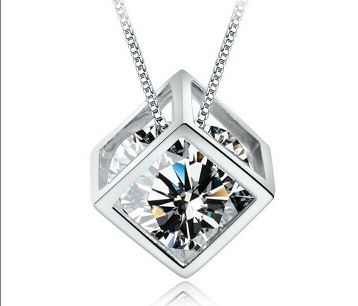 Wholesale Fine Jewelry Silver Pendant 100% Guaranteed Solid 925 Sterling Silver Pendant With Cubic Zirconia ps2810