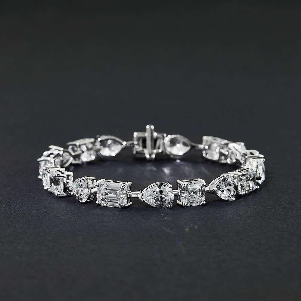 Hbp moda shipai jóias Nova mão adorno feminino mulheres simples e versátil gota de água geométrica s925 esterlina pulseira de prata 15 ~ 18c