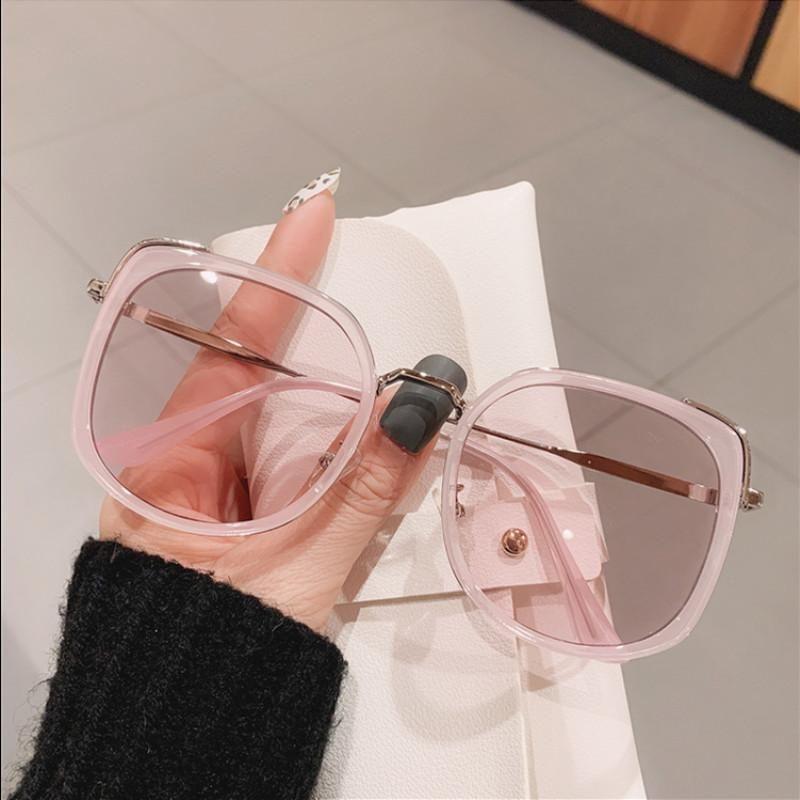 Nuova grande cornice sottile rotonda viso moda occhiali da sole di alta qualità classica UV400 All-Match Charm Gorgeous Street Shooting Shades