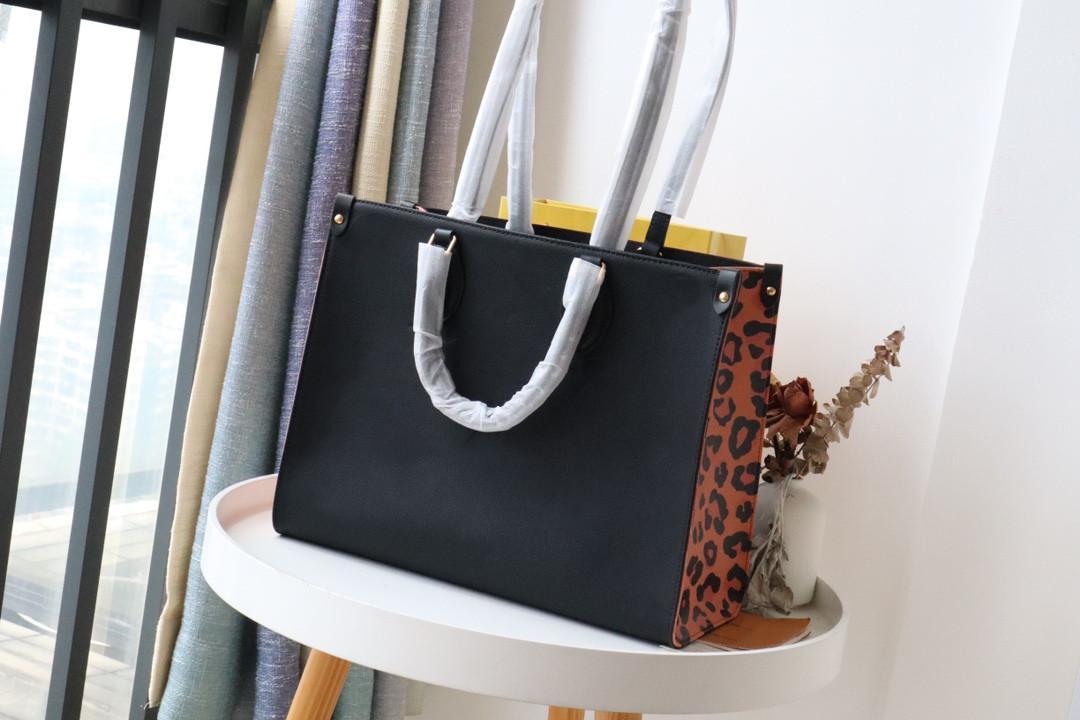 2021 Mode Hohe Qualität Dame Braun Einkaufstasche Luxus 3A Klassische Marke Leder Leinwand Große Kapazität Handtasche