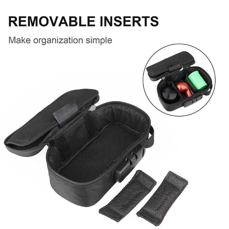 Bolso a prueba de olor con la caja de almacenamiento de la caja de almacenamiento sin olor inodoro conjuntos de accesorios de fumar en el contenedor de la bolsa anti-olor para el viaje en casa