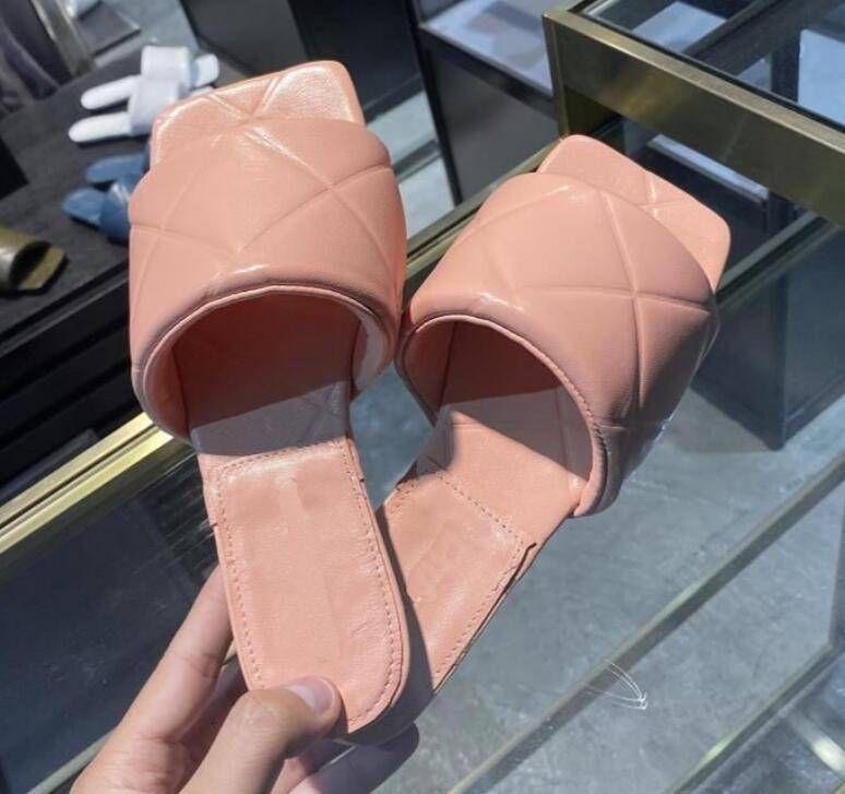 2020 النساء الصنادل مبطن في مأدبة أحذية الصيف النعال الجلدية متعدد الألوان شقة عالية الكعب حجم 35-42 A3