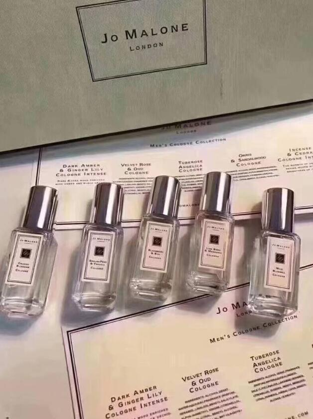 Berühmte Jo Malone Köln für Männer Langlebiger Gentleman Parfüm Erstaunlicher Geruch Tragbare Duftkits 9 ml * 5 Set