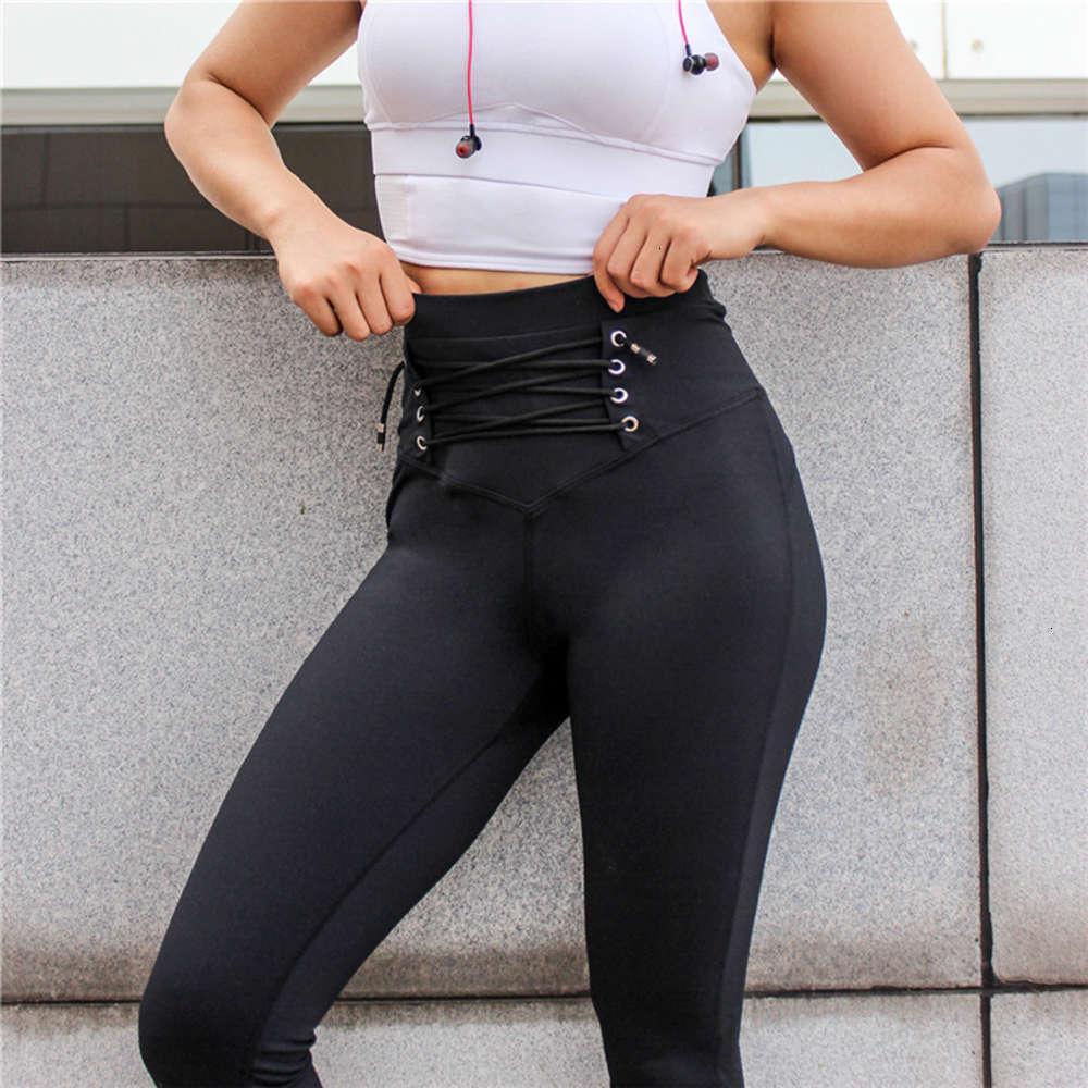 Pantaloni sportivi Sexy Pantaloni sottili a vita alta con vita e glutei leggings