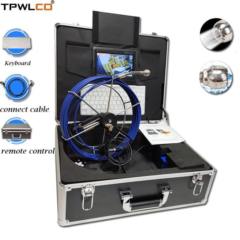 Kameras 7inch 25mm 20m Abflussrohr Abwasserkanalinspektion Videokamerasystem mit DVR-Funktion wasserdicht haben 12 stücke LEDs