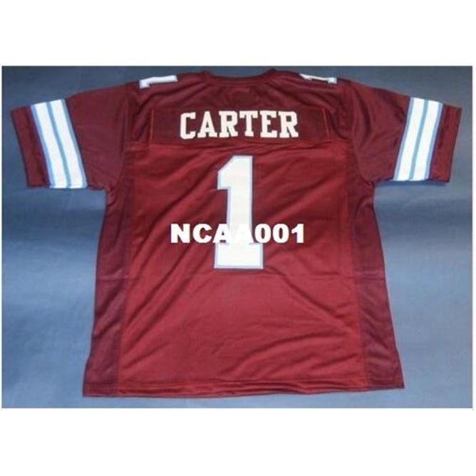 668 # 1 Anthony Carter Özel Michigan Panter Retro Kolej Forması Boyutu S-4XL veya özel herhangi bir isim veya numara forma