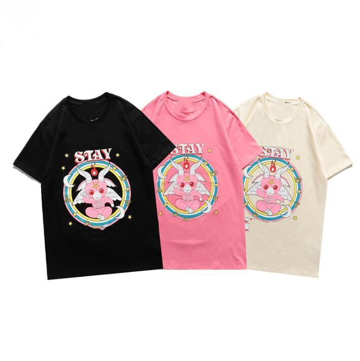 2021 Новые мужские женские дизайнеры футболки мода мужские футболки уличные дизайнер тройники шорты рукава футболки 21ss