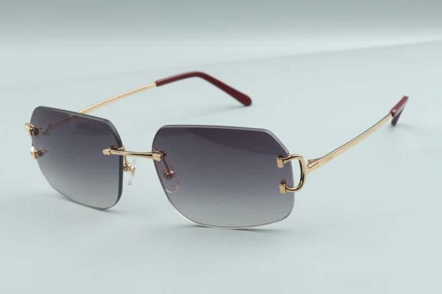 2021 Nova fábrica direta de luxo designer de óculos de sol 4193820 simples garra clássica metal ultra luz óculos de sol frete grátis