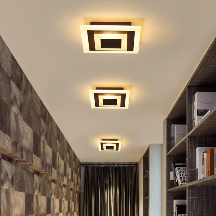 Lámparas de techo LED Lampara TechO Dormitorio Montaje de superficie regulable Lámpara para Corredor de cocina Estudio de baño Moderno Plaza LED