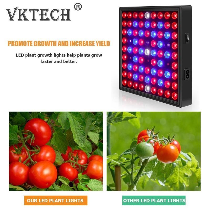 Lampes d'éclairage hydroponique pour serre plante intérieure de croissance de plantes lumières ampoule 80W plante LED Cultiver la lumière