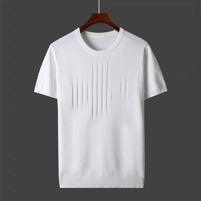 2021 Nuova T-shirt da uomo estiva T-shirt a colori solidi Uomo Uomini causali O-Neck Maglione di base Maglione maschile Top classiche morbido Tee a maglia D217