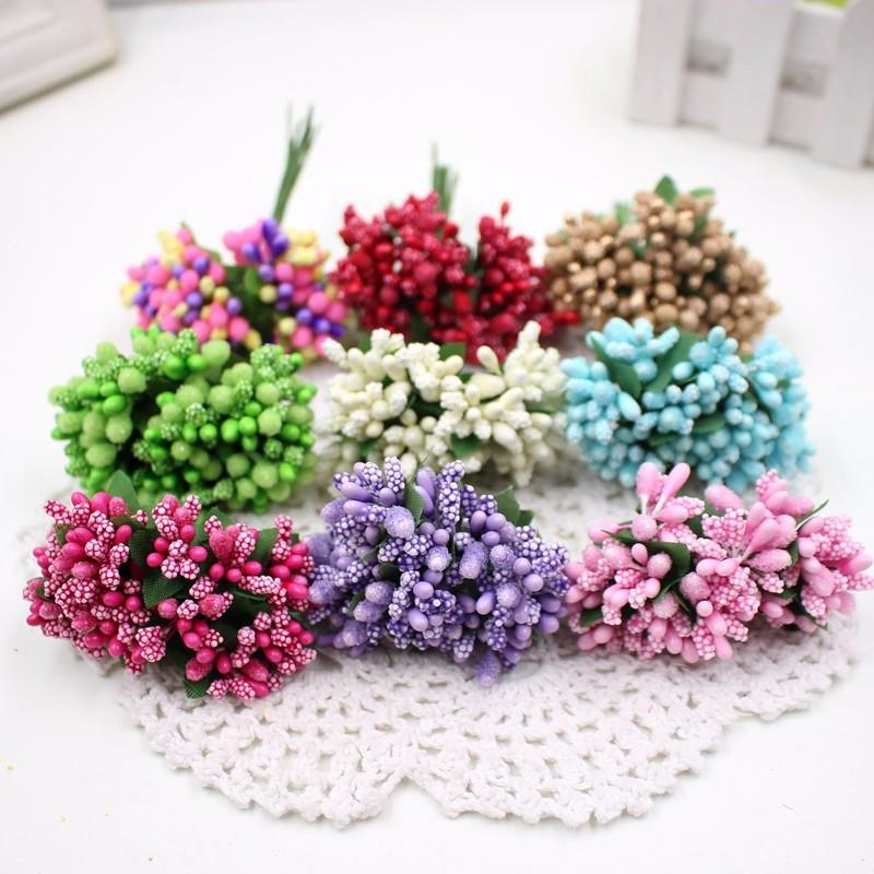 Berry Decorative Artificial Fruit Flower Stamens Diy Wedding Christmas Garland Box Decoration Scrapbooking Garland Craft