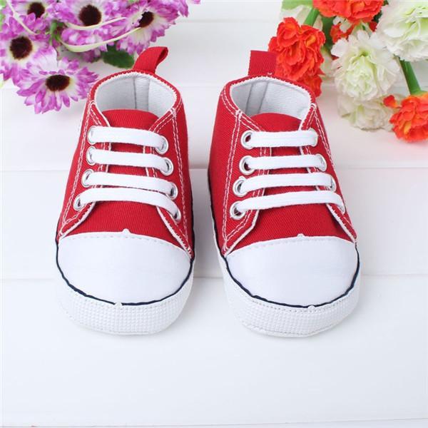 Yenidoğan Bebek İlk Walkers Ayakkabı Bahar Sonbahar Erkek Kız Çocuklar Bebek Yürüyor Klasik Spor Sneakers Yumuşak Soled Kaymaz Ayakkabı