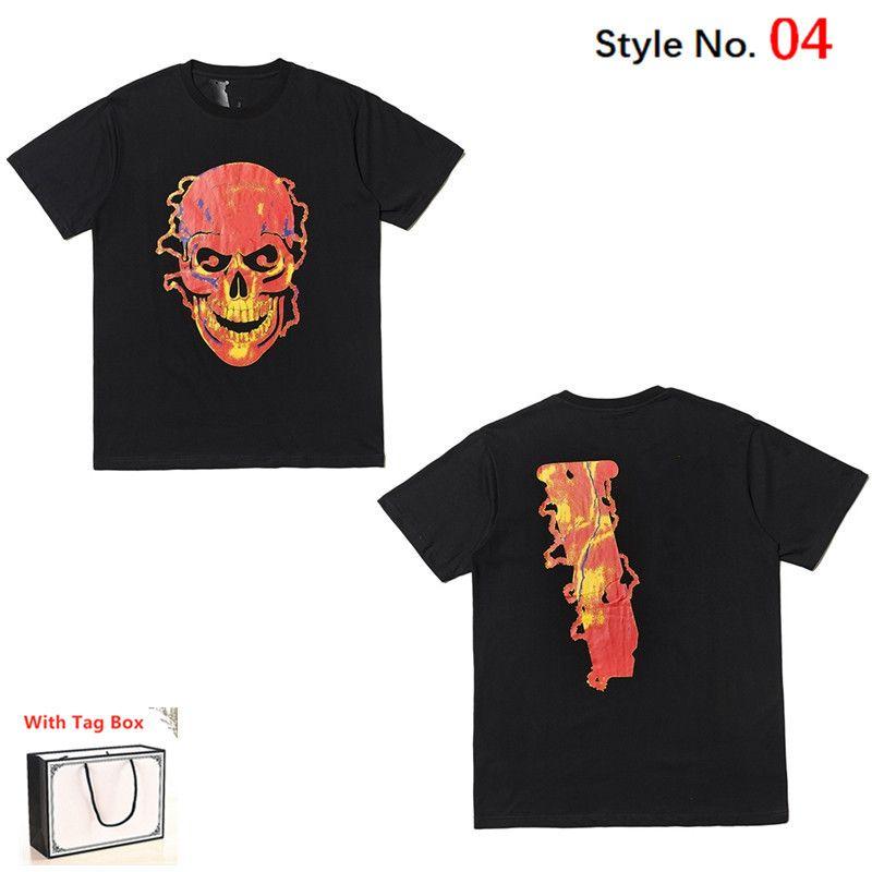 Hombres camiseta de manga corta de verano Mujeres Top European American Popular Impresión Camiseta Parejas de alta calidad de ropa con caja de etiqueta