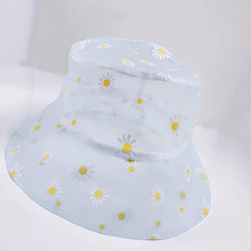Hüte Eimer Hut Frauen Transparente Spitze Blume Strand Panama Hüte High Top Snapback Mode UV-Schutz Sun Cap Fisherman