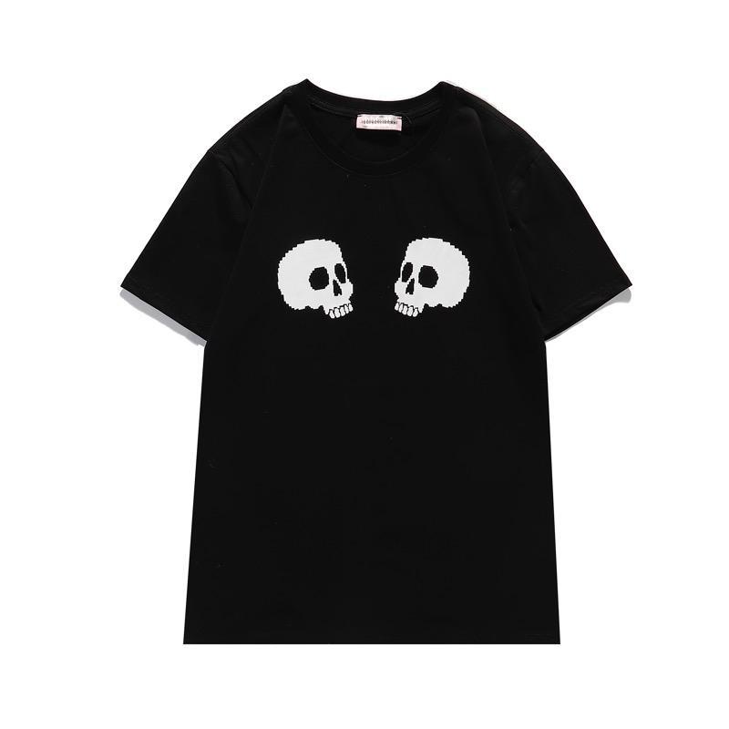 21ss monogramm-buchstabe geometrische المطبوعة modedesigner herren t-shirt sommer-t-shirts t-stück beiläufige einfache männer frue