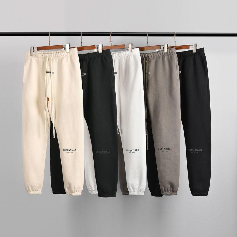 2021 Automne hiver Nouvelle collection Brouillard Essentials Pantalon Pertinence Femmes HiPhop Fleeces Coton Casual Pantalon Pantalon Hommes I0na