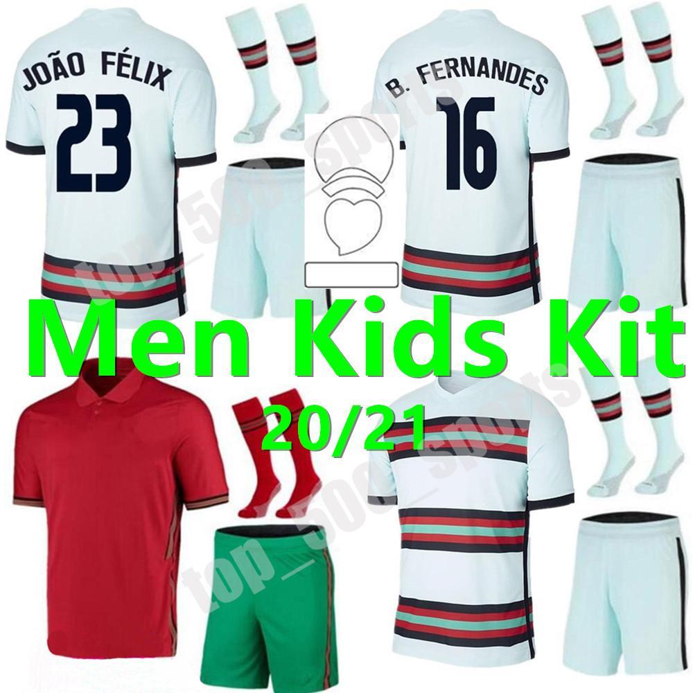 새로운 2021 성인 어린이 키트 국립 팀 축구 유니폼 호나우두 Joao Felix 홈 멀리 남성복 축구 셔츠 20 21 Guedes sets camisa de futebol