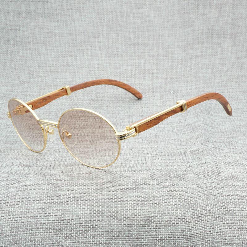 A1 Doigt Naturel Buffalo Horn Hommes Clear Lunettes Lunettes de soleil en bois pour l'été Oculos Oculos GAF