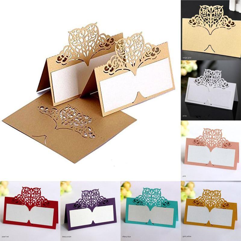 번호 이름 좌석 카드 빈티지 테이블 나비 피로연 테이블 결혼 생일 레이저 컷 하트 카드 파티 장식