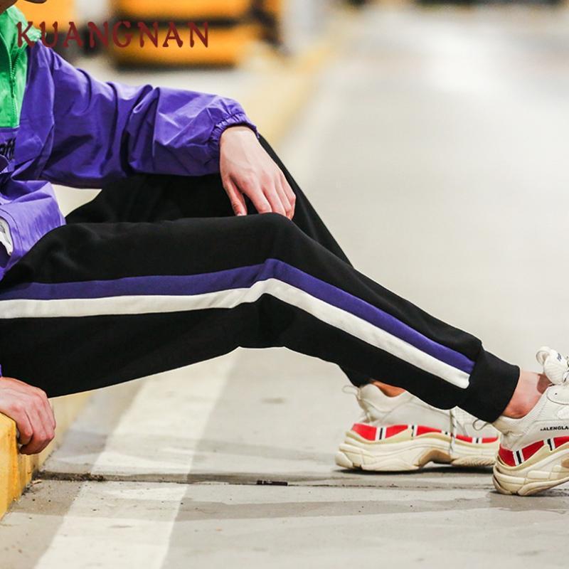 الرجال السراويل kuangnan الكاحل طول الحريم الرجال السراويل ركض الهيب هوب الملابس 2021 اليابانية الشارع الشارع عارضة