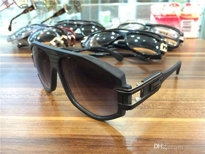Cool Mens старинные легенды солнцезащитные очки Matee Black Gold Grey Gradient Lens 163 Солнцезащитные очки Новые с коробкой