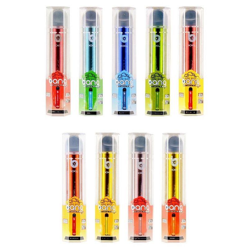 Bang XXL Одноразовый Кит Vape Pen E CiGarette Starter Kit Устройство 2000 Средства 800 мАч Силовой аккумулятор 6 мл PODS Пара патронов Оптовая