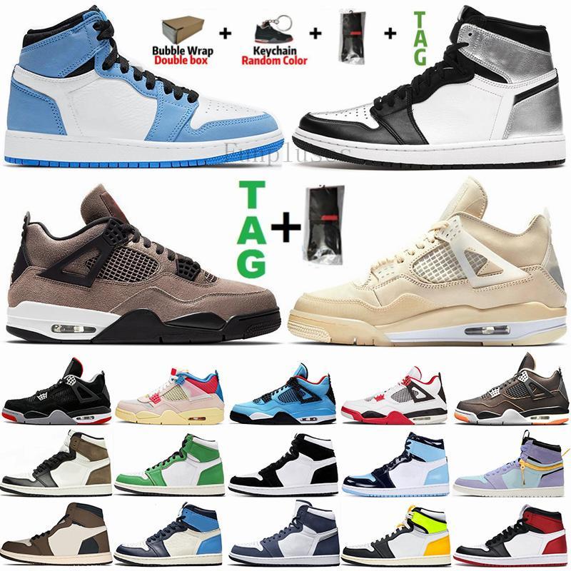 مع مربع أبيض ولدت الشراع صبار جاك نوير الجوافة الجليد 4S الرجال أحذية كرة السلة Jumpman 4 القطة السوداء ما إن إمرأة المدربين أحذية رياضية