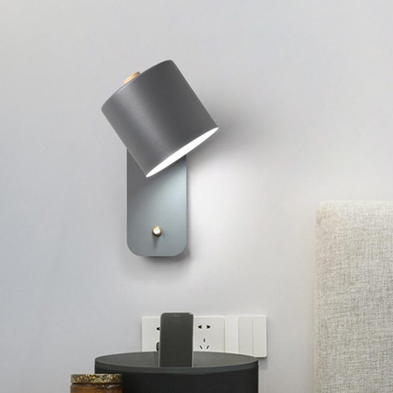 Nordic Wall Luzes Ajustável Ajustável Casa de cabeceira Luz de cabeceira Banheiro Lâmpada de espelho LED Lâmpada de parede E27 Decoração de iluminação