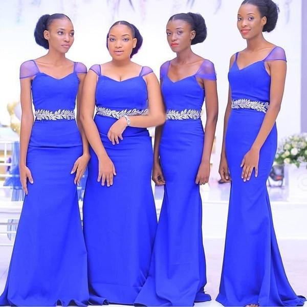 2021 Country Bridesmaid Dresses Mermaid Sweetheart Elastic Satin Wedding Guest Dresses Sweep Train Maid Of Honor Gowns