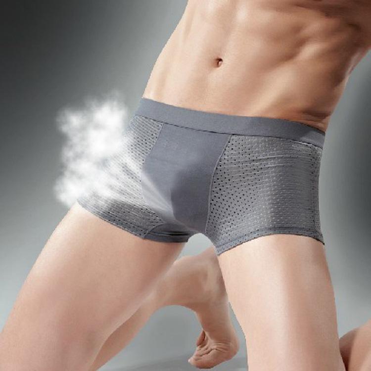Buz ipek boksör nefes örgü sıcak satış erkek iç çamaşırı yaz aylarında