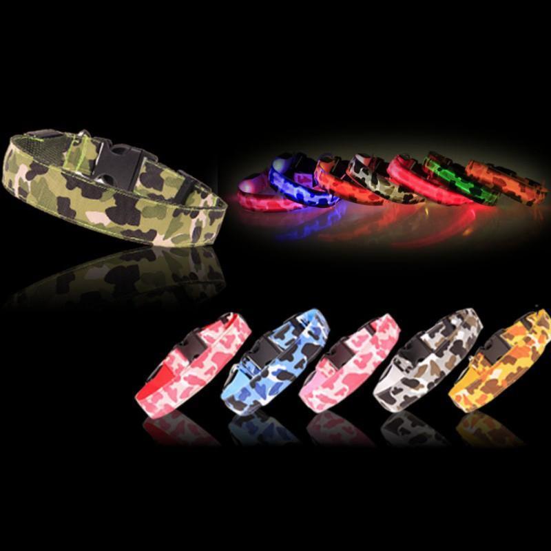 Collari per cani Guinzaglia LED Colletto Night Safety Sicurezza lampeggiante Glow Gatto per animali domestici con cavo USB Cani di ricarica Accessorio ricaricabile.