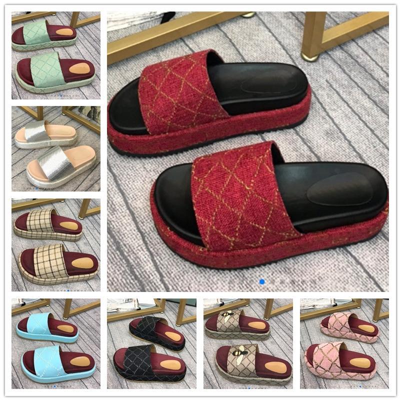 Gucci Letters Women Designer Sandals Summer Wedge High Heel Platform sandal Ladies Slide Slipper Brand Fends Flip Flop Luxury beach Shoes