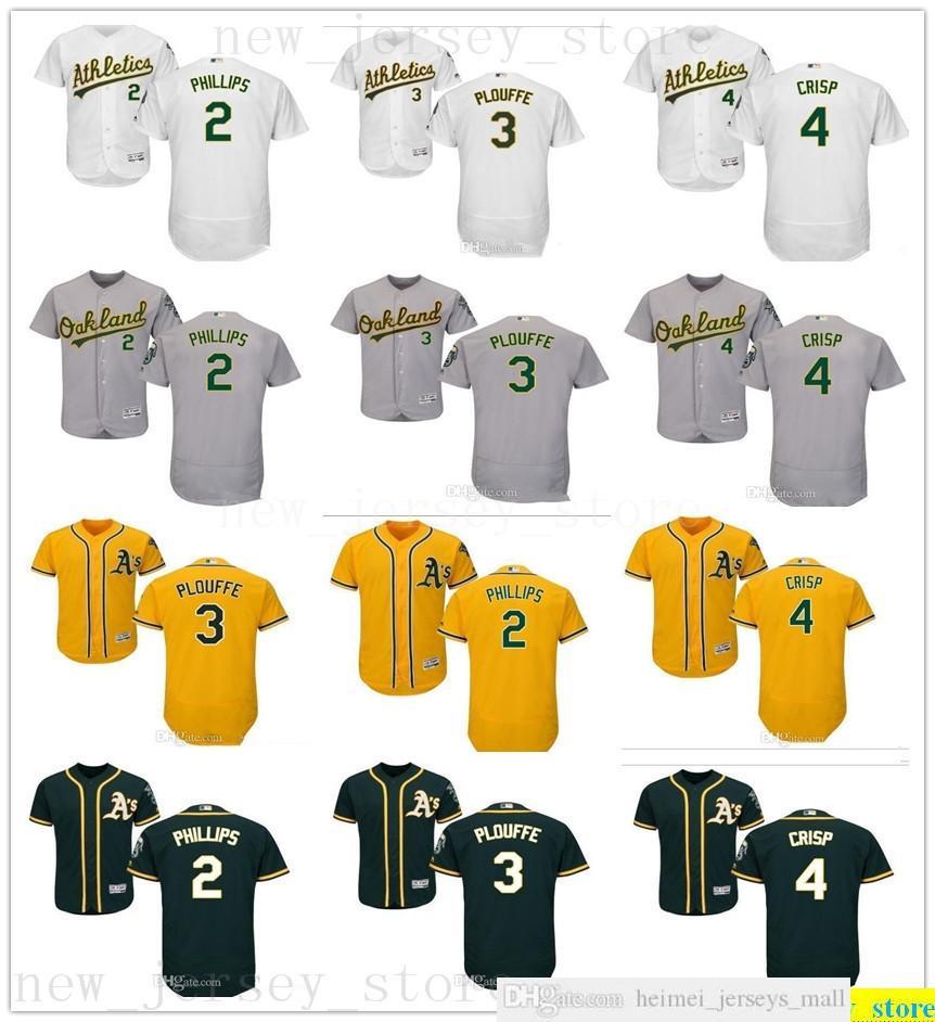 사용자 정의 2019 망 여성 청소년 야구 저지 옐로우 스티치 2 Tony Phillips 3 Trevor Plouffe 4 코코 파삭 한 흰색 회색 녹색 키즈 유니폼
