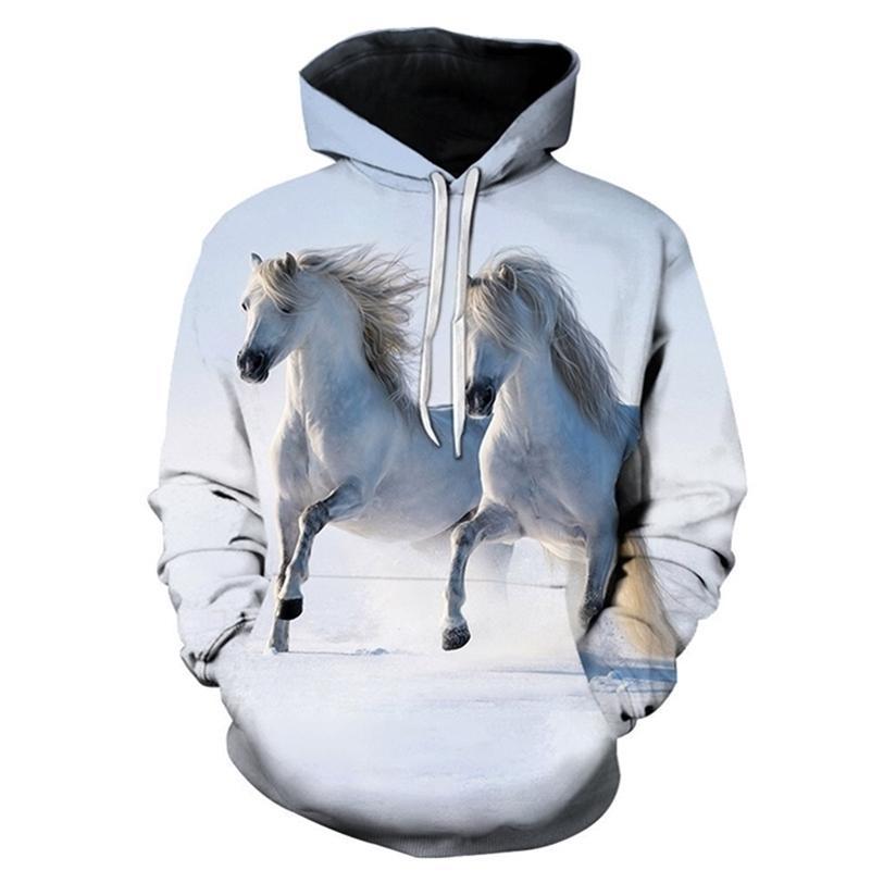 Horse Win Instant Success Print Hoodies Interesting implication Animal Design Men Women Streetwear Pullover Casual Sweatshirt LJ201222