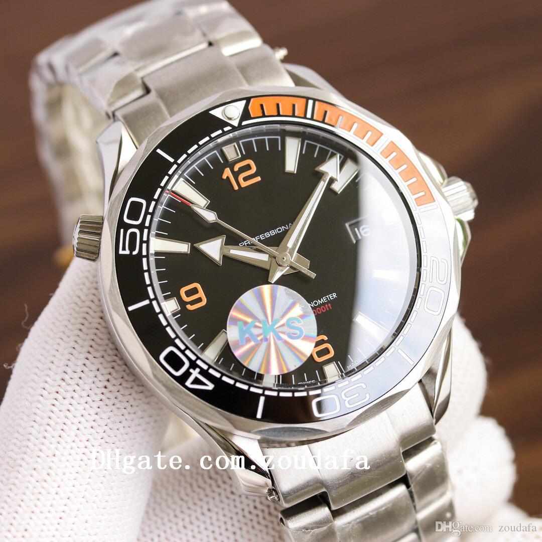 2021 Cerámica de alta calidad Cerámica Bisel Luxury Planet Relojes 007 Ocean Boss Marca 8215 Movimiento Relojes de pulsera James Bond Master Mens Watch D4300
