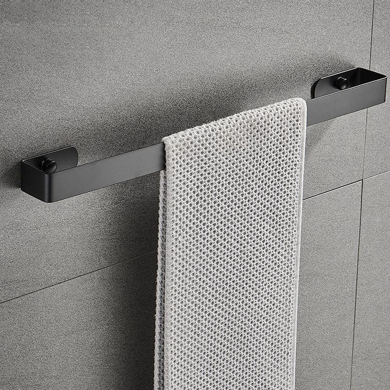 1 pièce en acier inoxydable murale salle de bain serviette d'essuie-rack cuisine toilette Sunges de soleil pantoufles étagère étagère maison fournitures