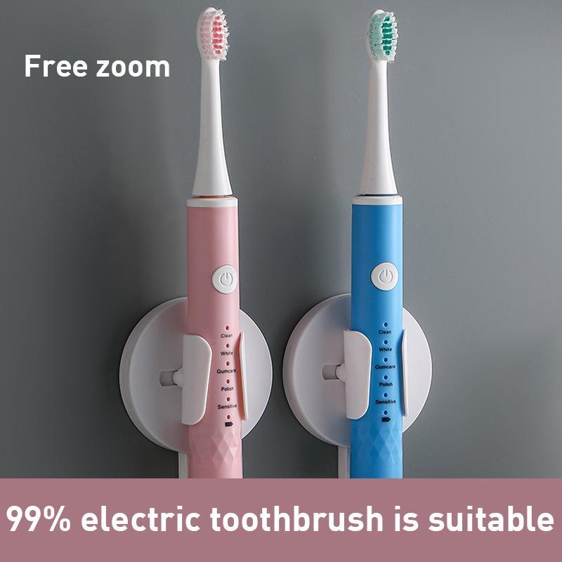 Evrensel Elektrikli Diş Fırçası Tutucu Yapıştırıcı Duvara Monte Diş Fırçası Tutucu Banyo Organizatör Ev Malları Sıcak Y0220