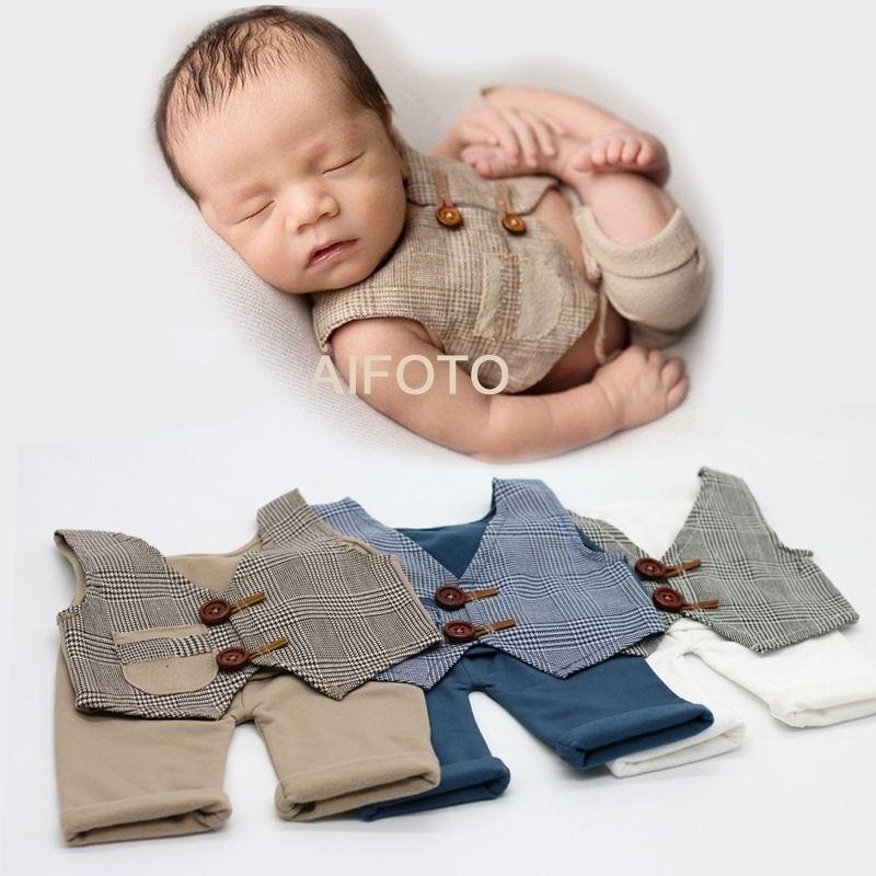 Recém-nascidos PROPOMAÇÃO PROP PARA OUTFITS Adereços Bebé Calças Definição De Aniversário Foto Fato Fotografia Fotografia Foto Acessórios 210309