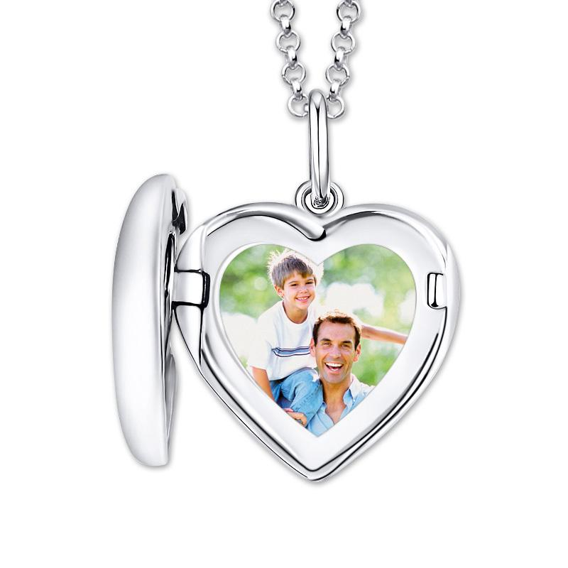 AILIN Personalized Photo Heart Locket Necklace Women 925 Sterling Silver Love Custom Picture Necklace Jewelry Christmas Gifts C0225